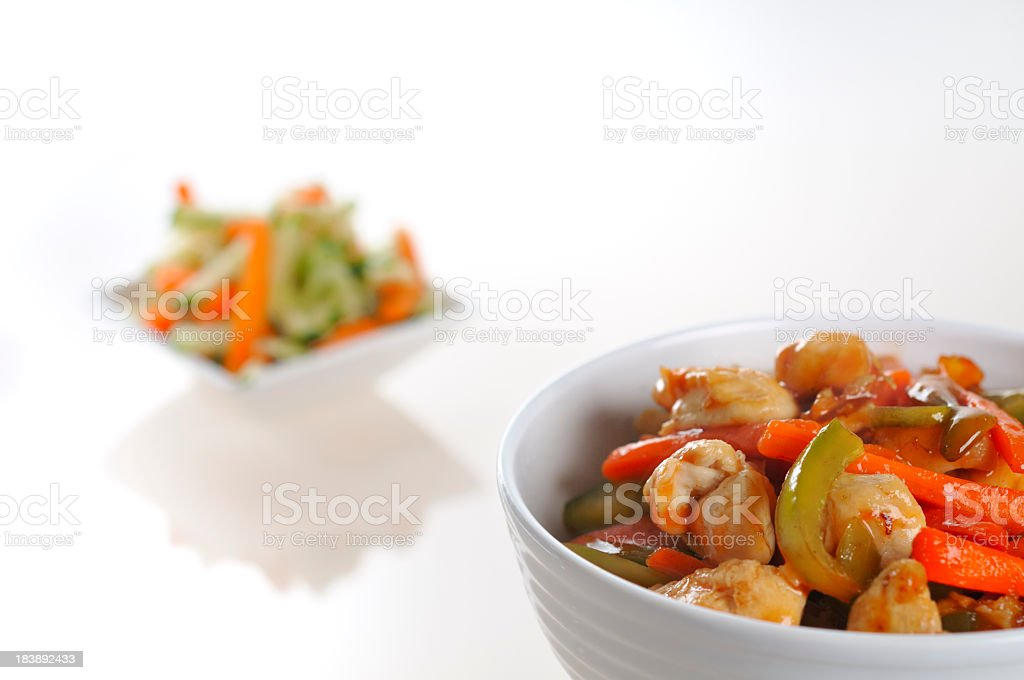 Chicken noodles royalty-free stock photo
