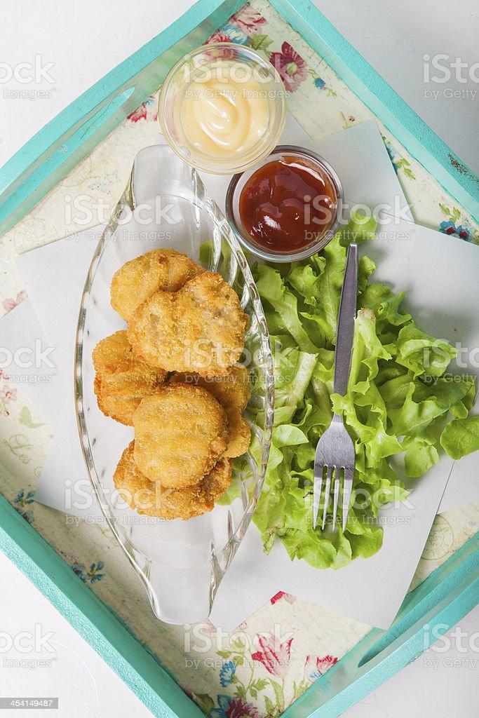 chicken  nugget stock photo