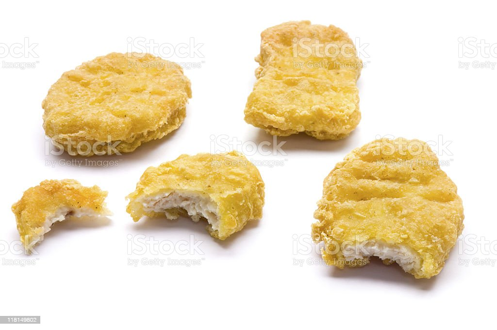 Chicken Nugget Samples royalty-free stock photo
