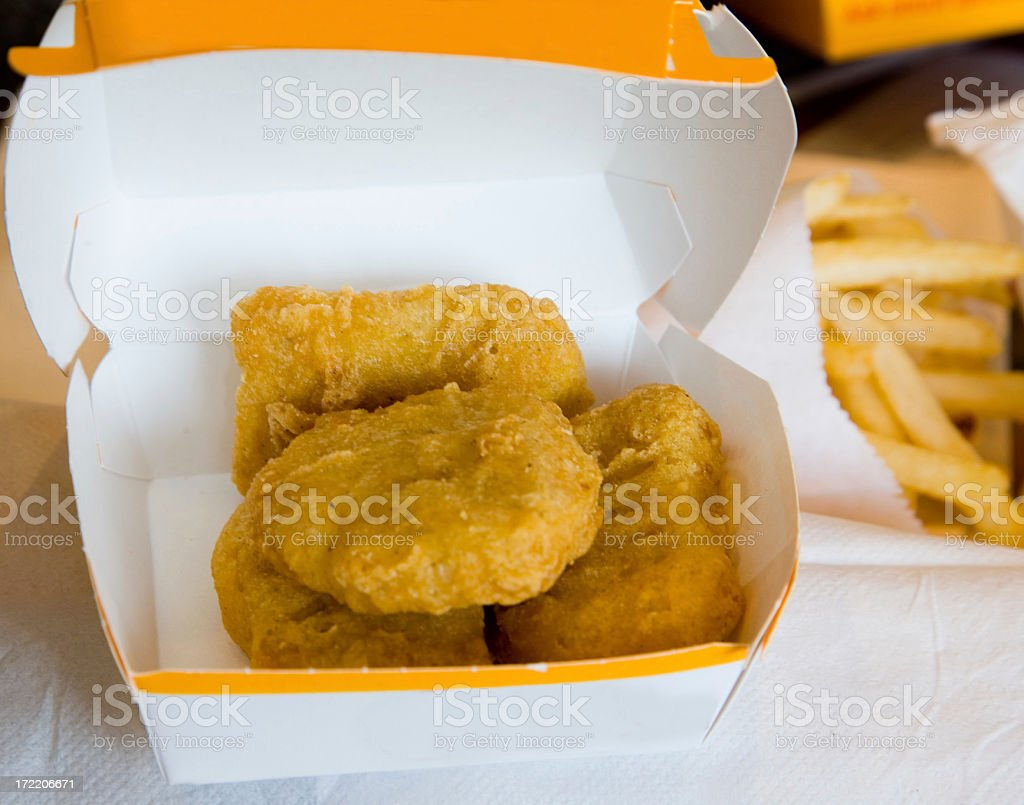 Chicken Nuggets and Fries royalty-free stock photo