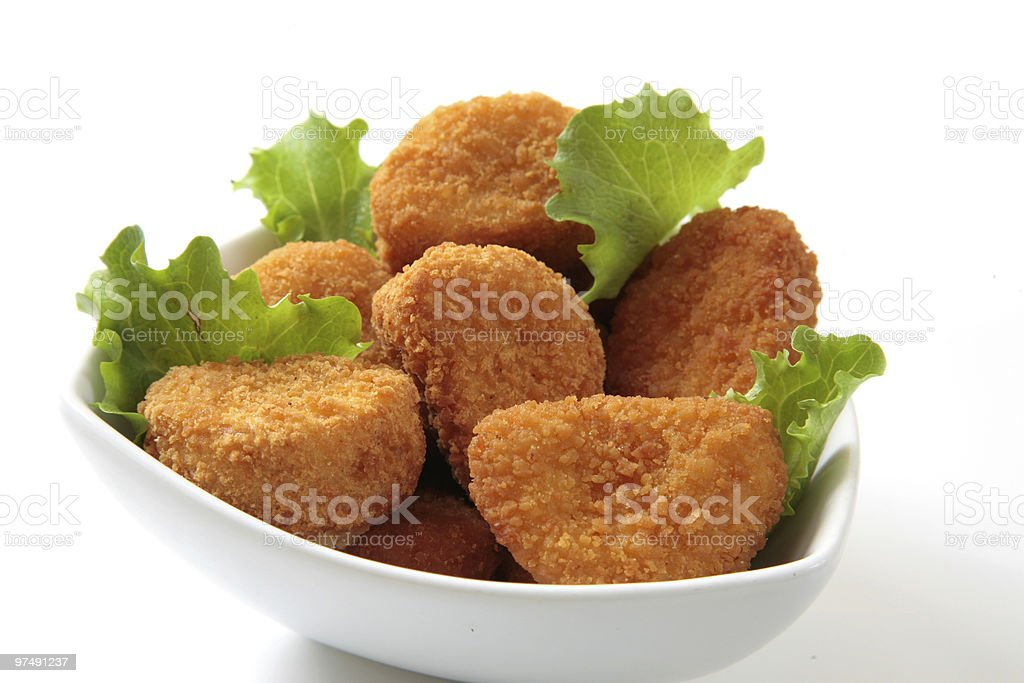 chicken nuggets dinner royalty-free stock photo