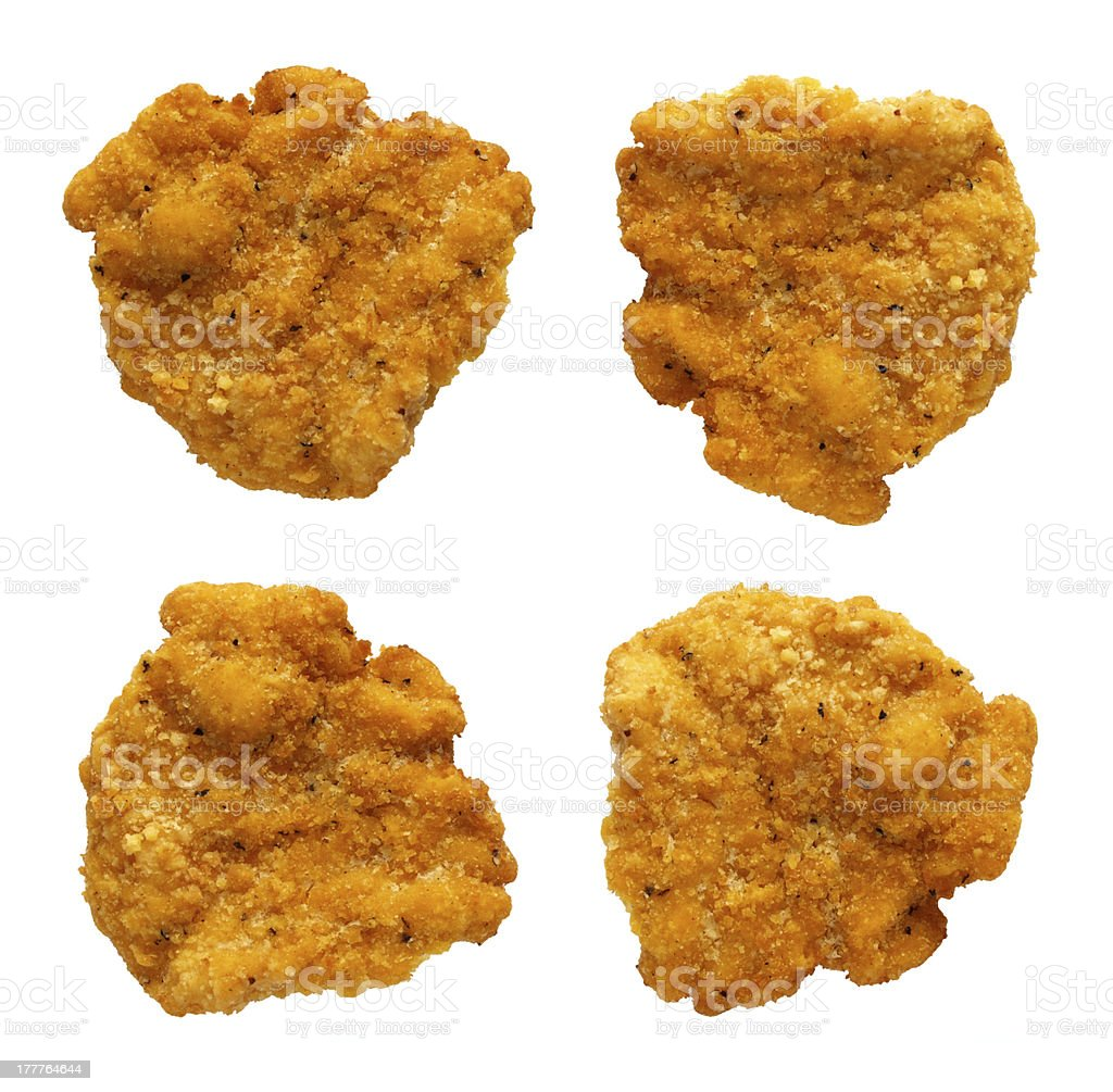 Chicken Nuggets isolated royalty-free stock photo
