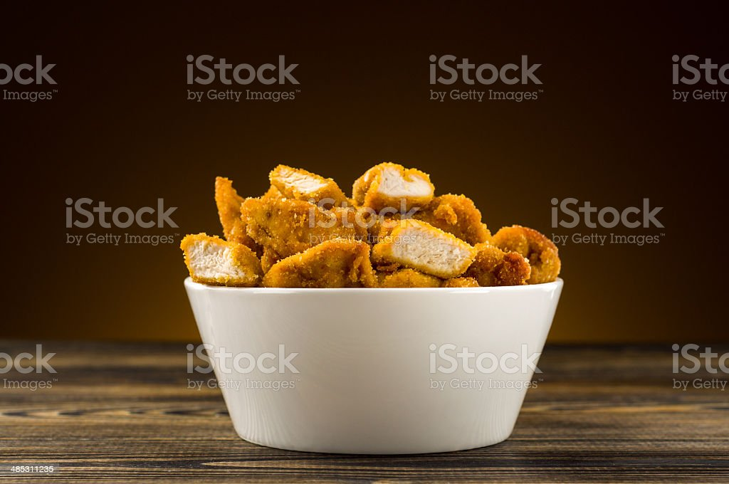 Chicken nuggets on the table royalty-free stock photo