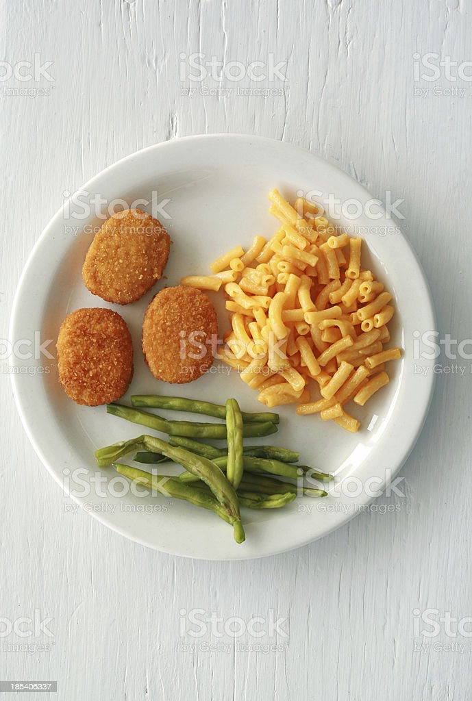 Chicken Nuggets on White royalty-free stock photo