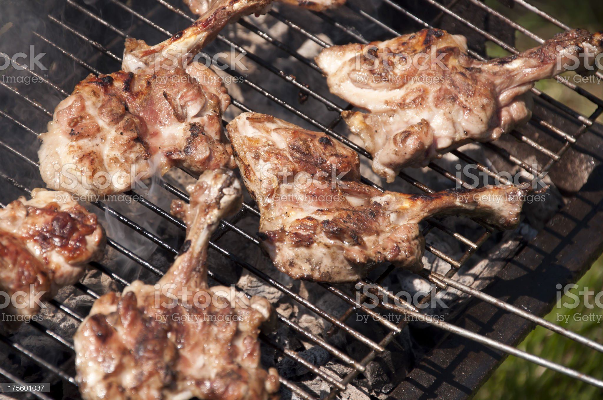 Chicken on Barbecue royalty-free stock photo