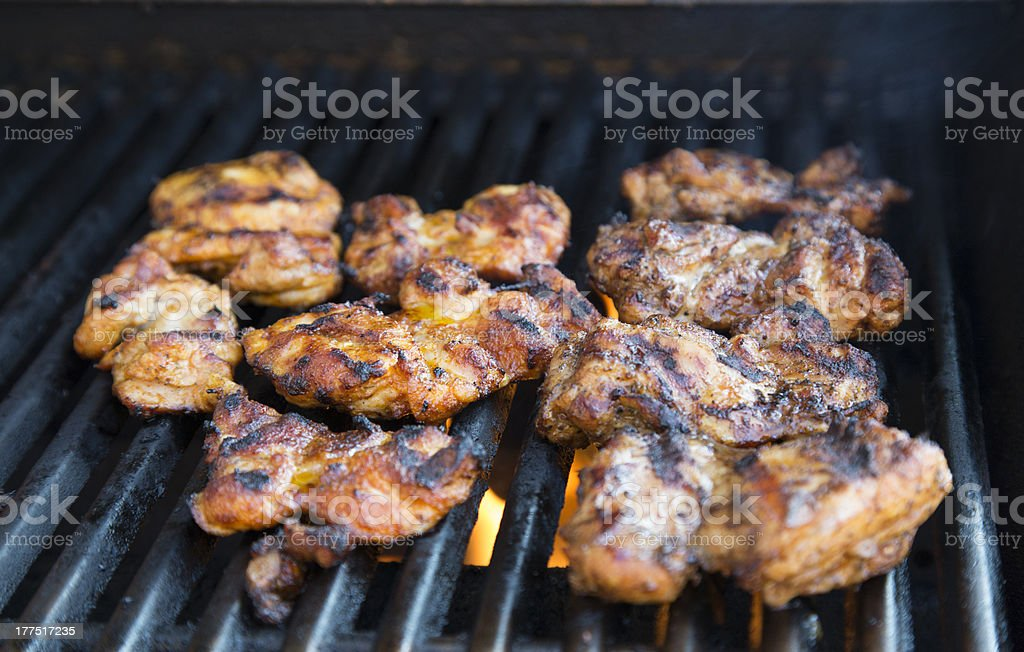 BBQ Chicken on the Grill stock photo