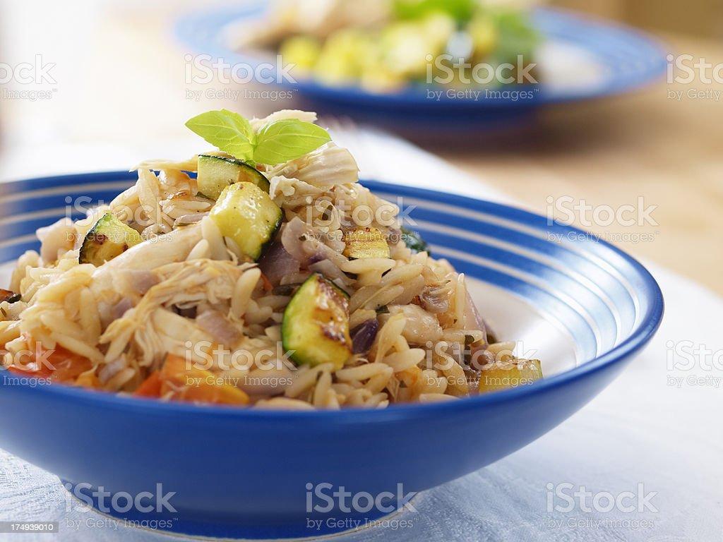 Chicken Orzo stock photo