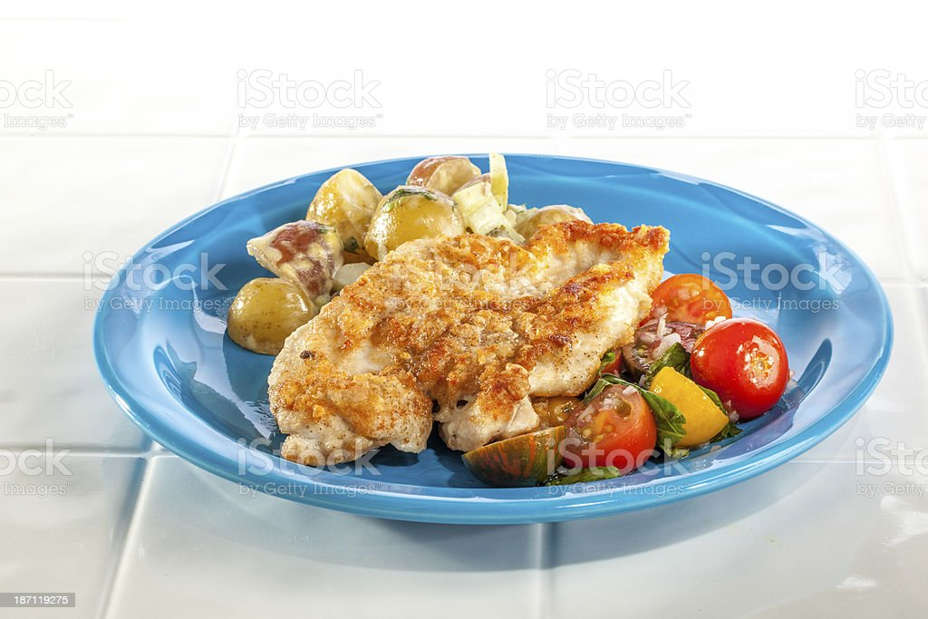 Chicken Paillard stock photo