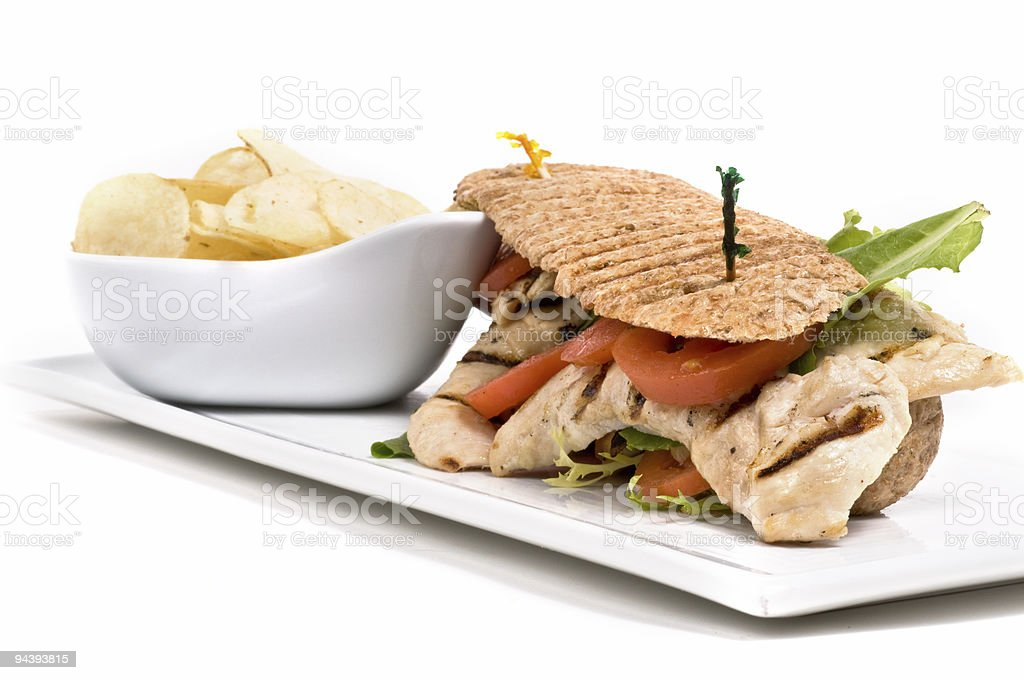 Chicken Panini royalty-free stock photo