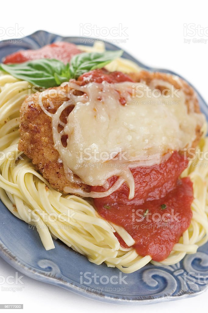 Chicken Parmesan royalty-free stock photo