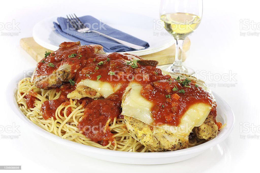 Chicken Parmigiana stock photo