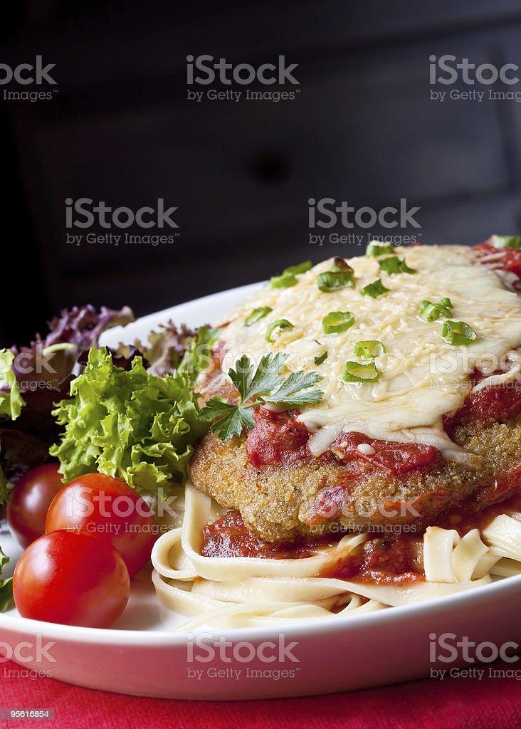 Chicken Parmigiana stock photo