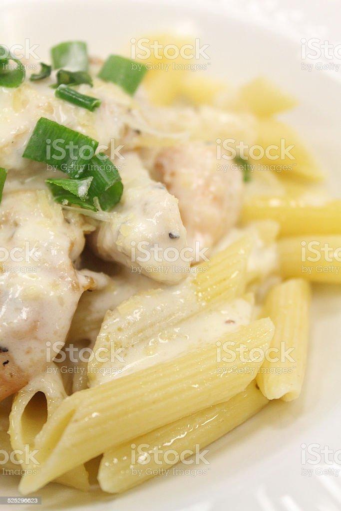 Chicken Pasta Alfredo stock photo