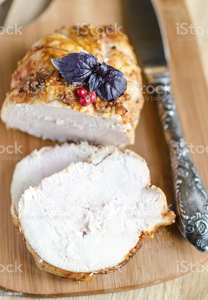 Chicken pastrami royalty-free stock photo
