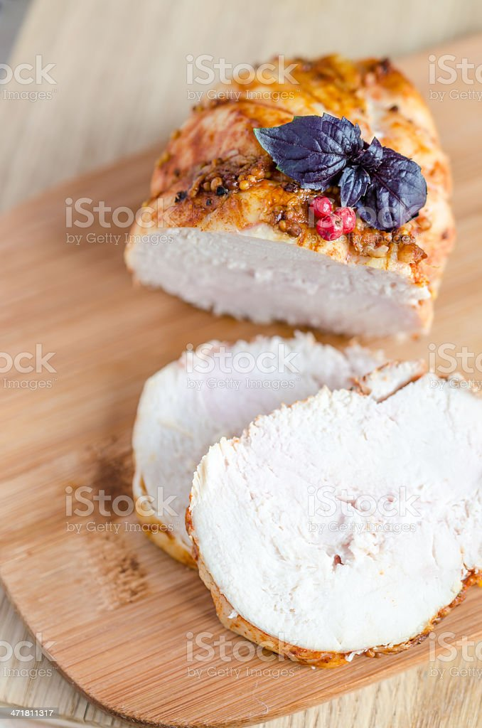 Chicken pastrami royalty-free stock photo