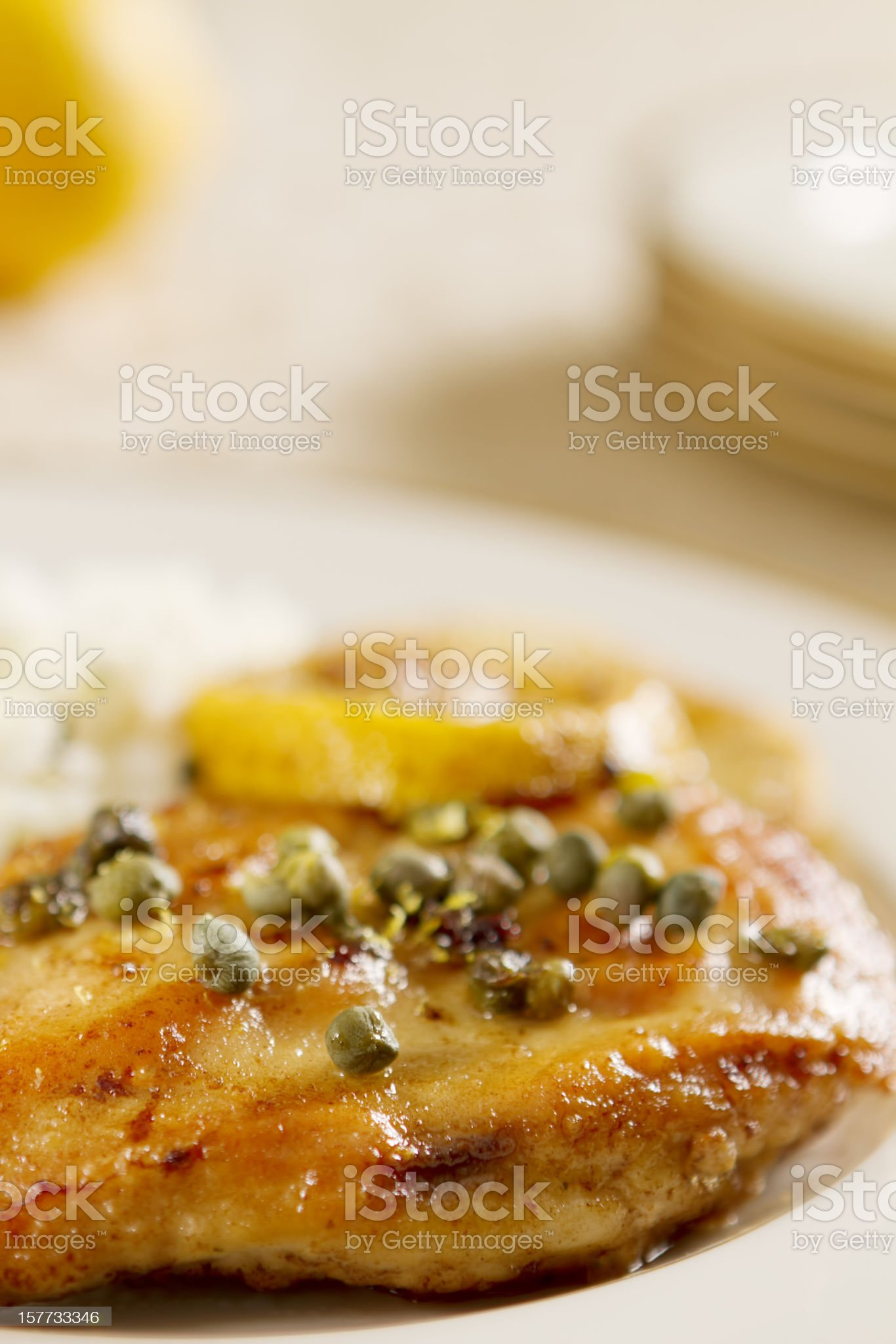Chicken Piccata royalty-free stock photo