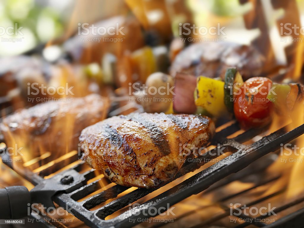 BBQ Chicken stock photo