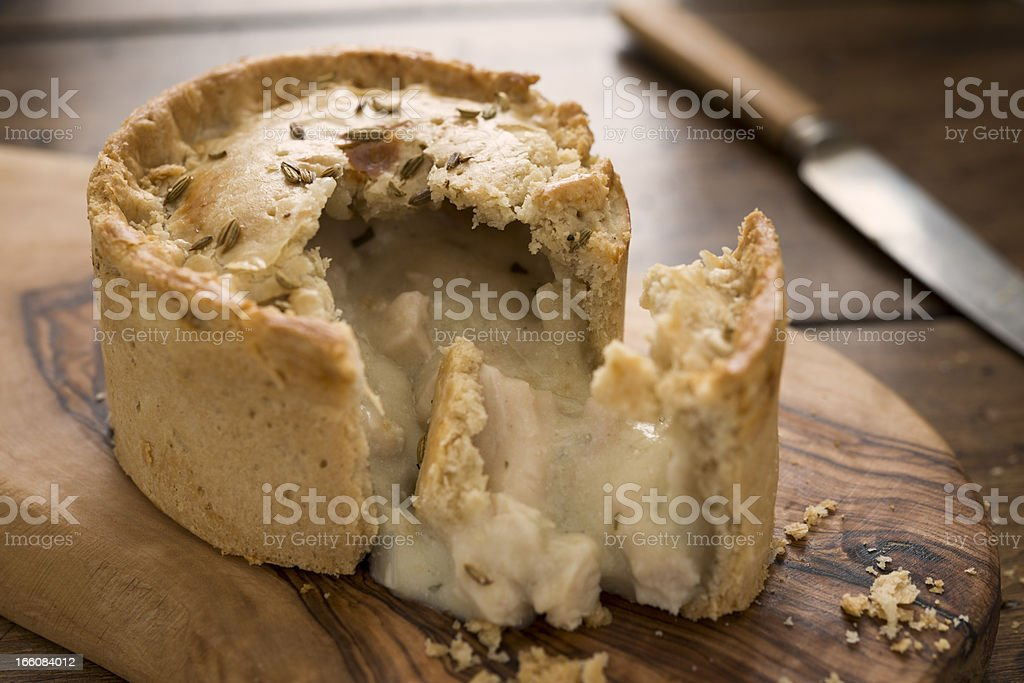 Chicken Pie stock photo
