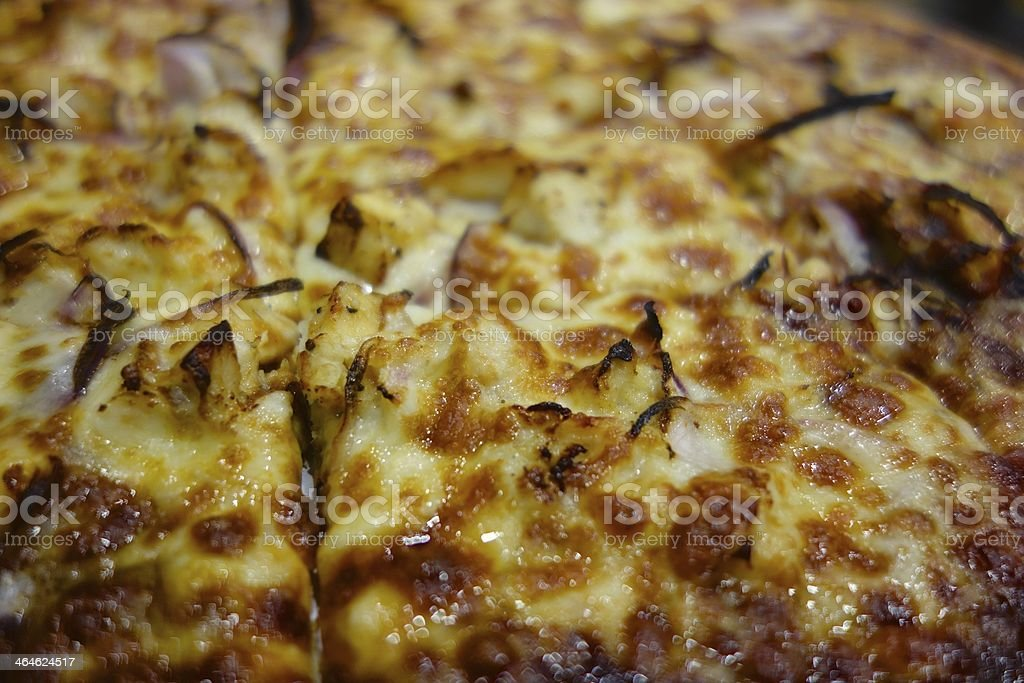 BBQ Chicken Pizza royalty-free stock photo