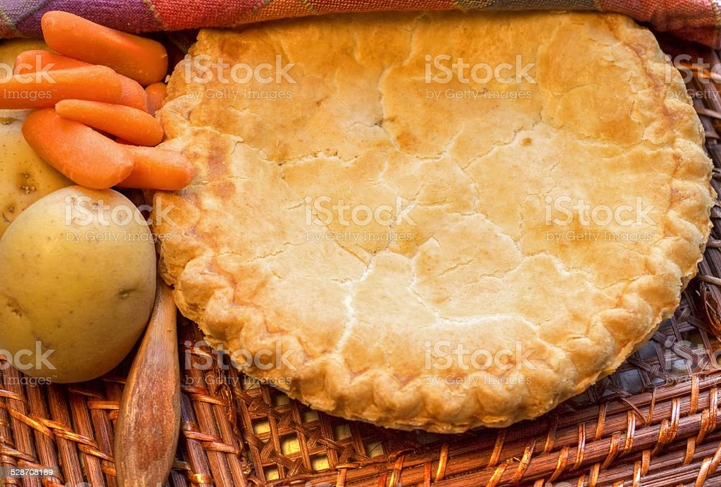 Chicken Pot Pie With Potatoes And Carrots stock photo