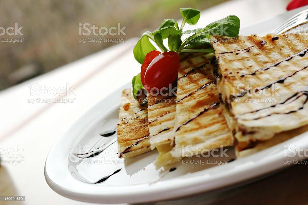 Chicken Quesadilla royalty-free stock photo