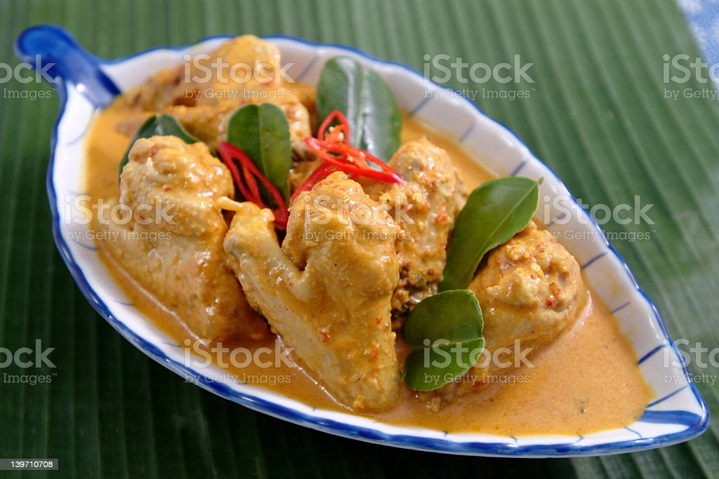Chicken Rendang royalty-free stock photo