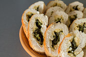 Chicken rolls with spinach and cheese