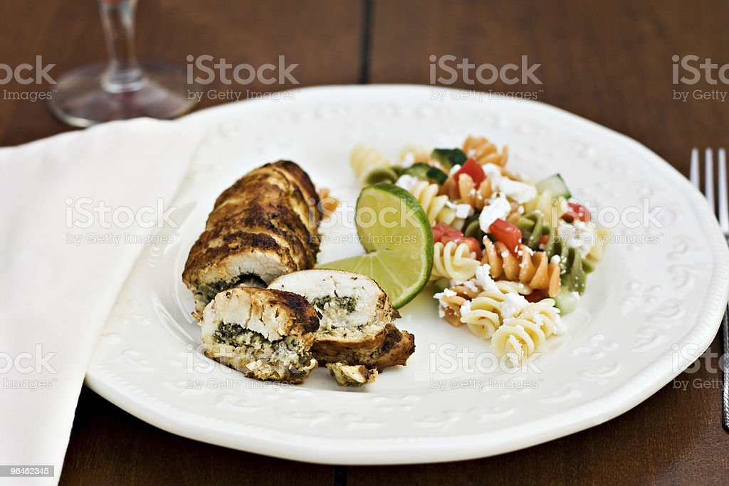 Chicken Roulade royalty-free stock photo
