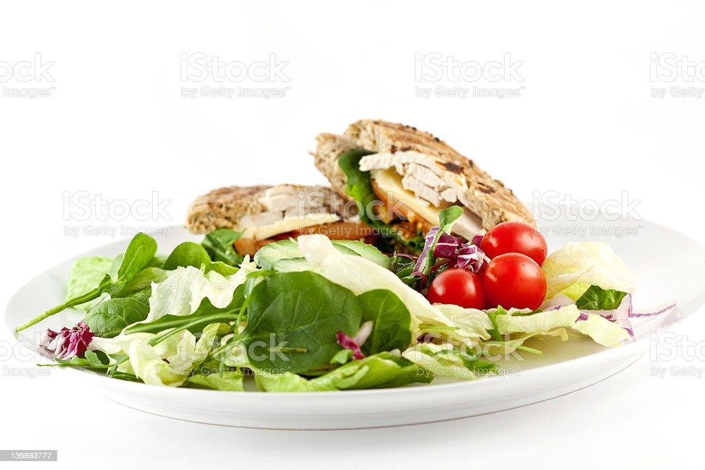 Chicken Salad Bagel royalty-free stock photo