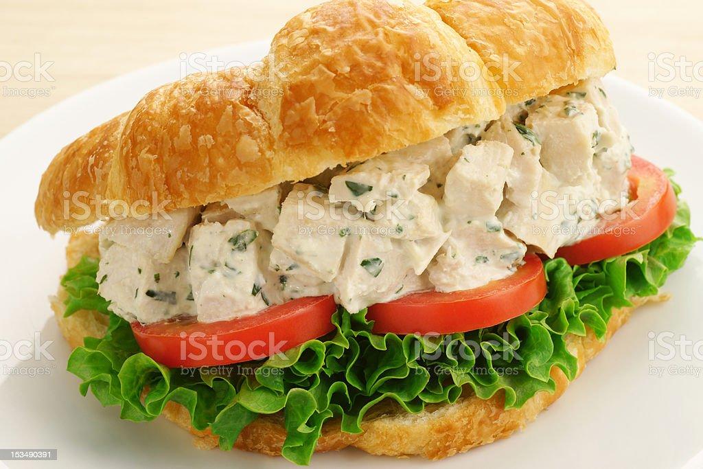 Chicken Salad Croissant Sandwich stock photo
