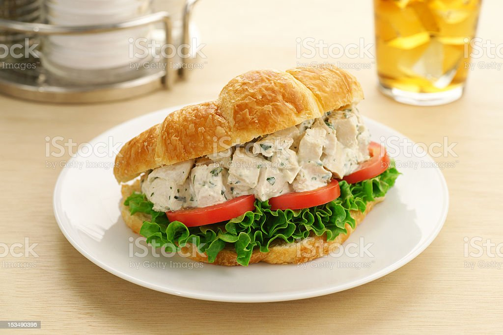 Chicken Salad Croissant Sandwich royalty-free stock photo