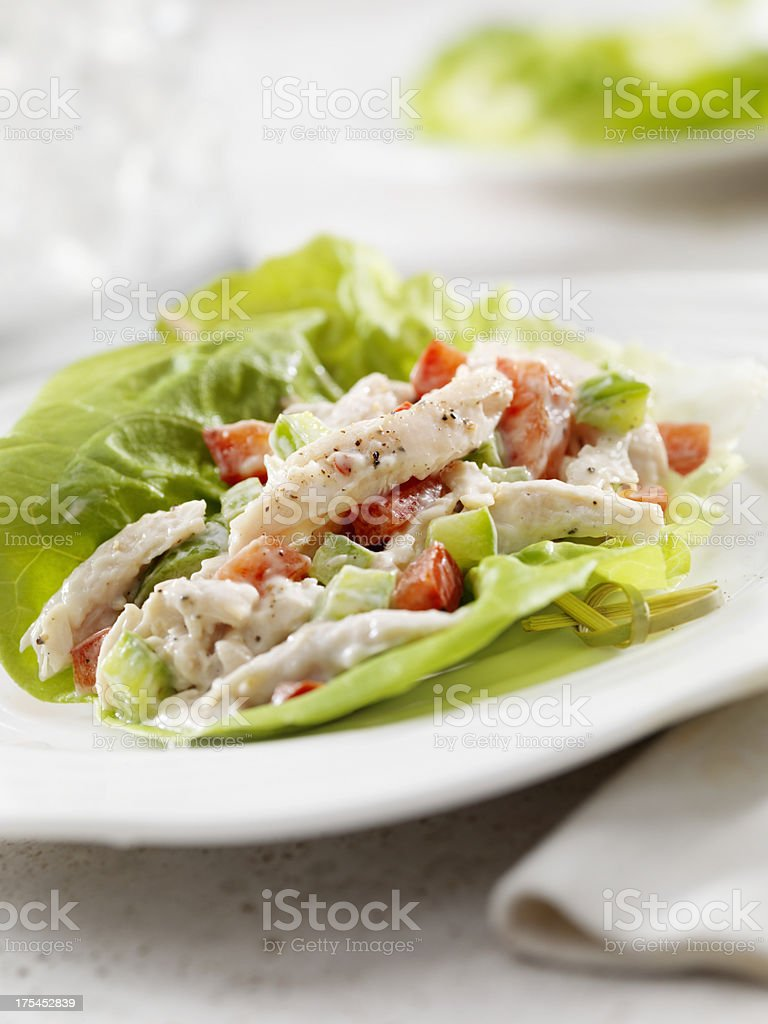 Chicken Salad Lettuce Wrap royalty-free stock photo