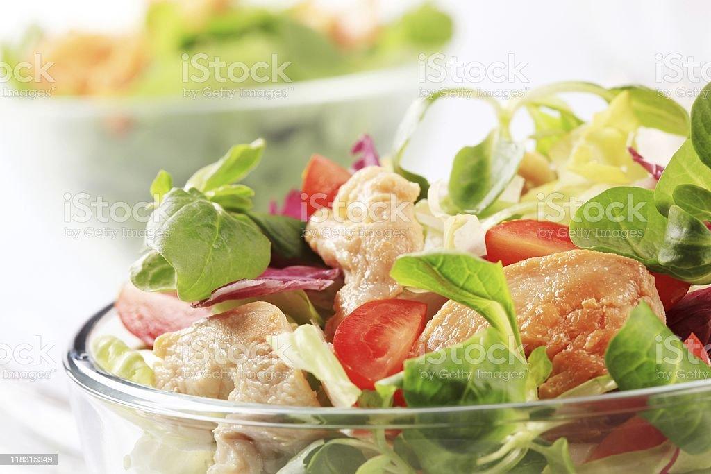 Салат с курицей Стоковые фото Стоковая фотография