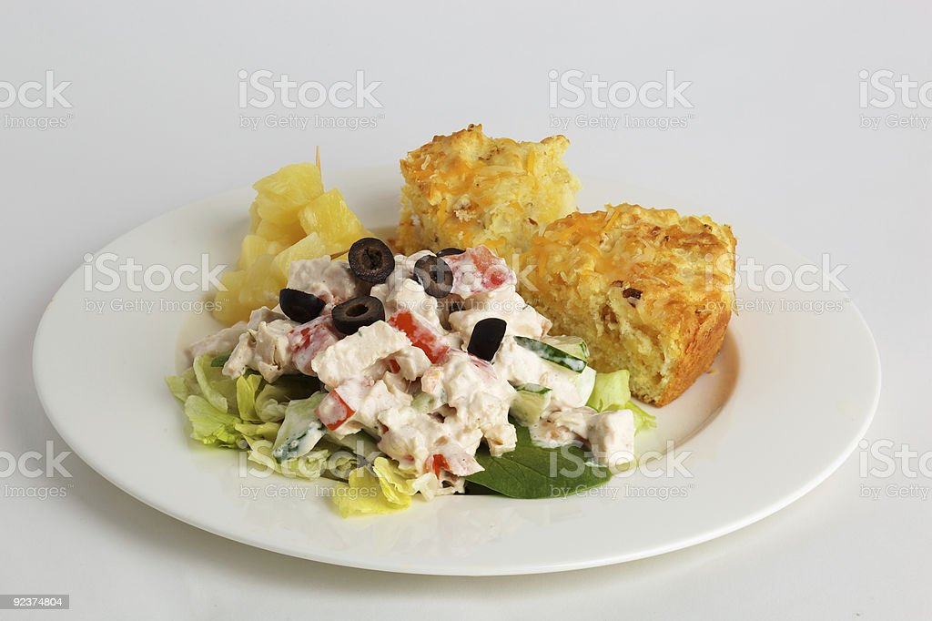 Chicken salad plate royalty-free stock photo