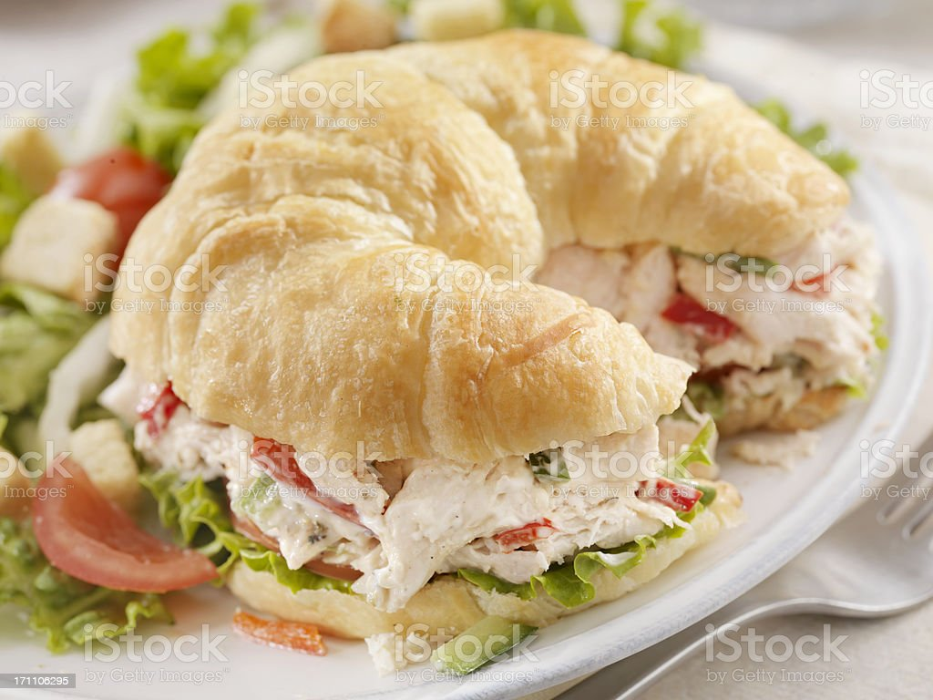 Chicken Salad Sandwich on a Croissant royalty-free stock photo