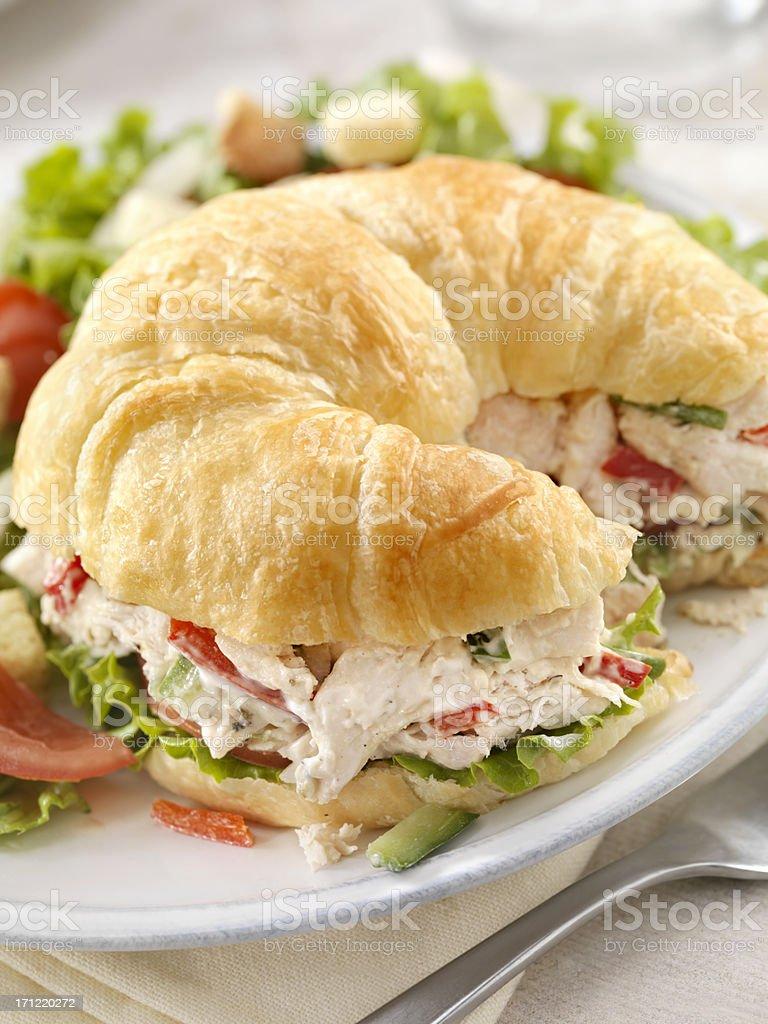 Chicken Salad Sandwich on a Croissant stock photo