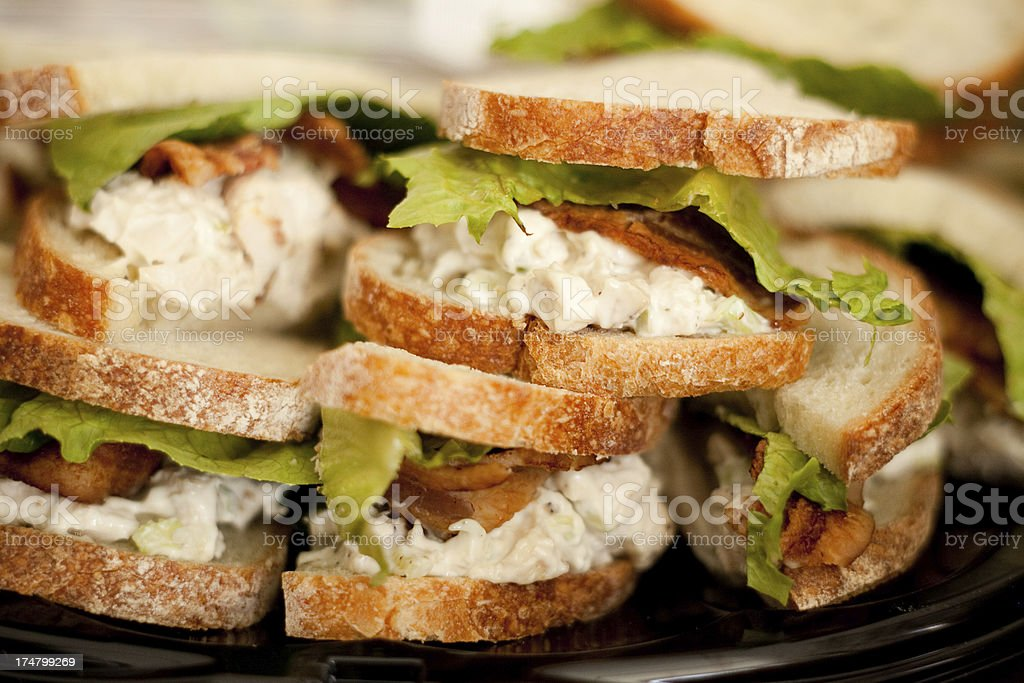 Chicken Salad Sandwich with Bacon and Lettuce for Healthy Lunch royalty-free stock photo