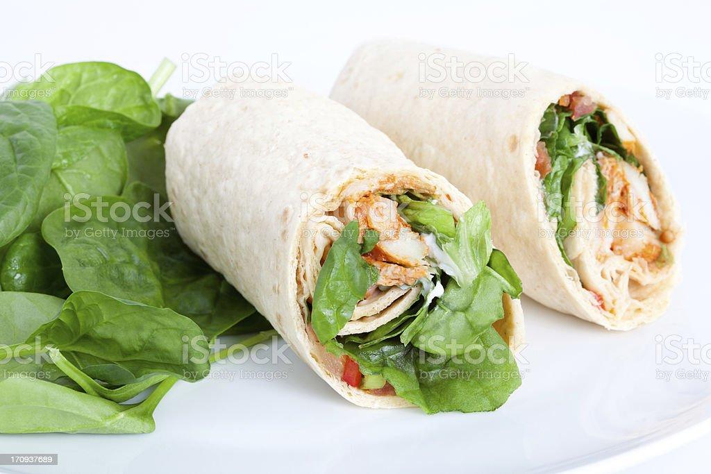 Chicken Salad Sandwich Wrap stock photo