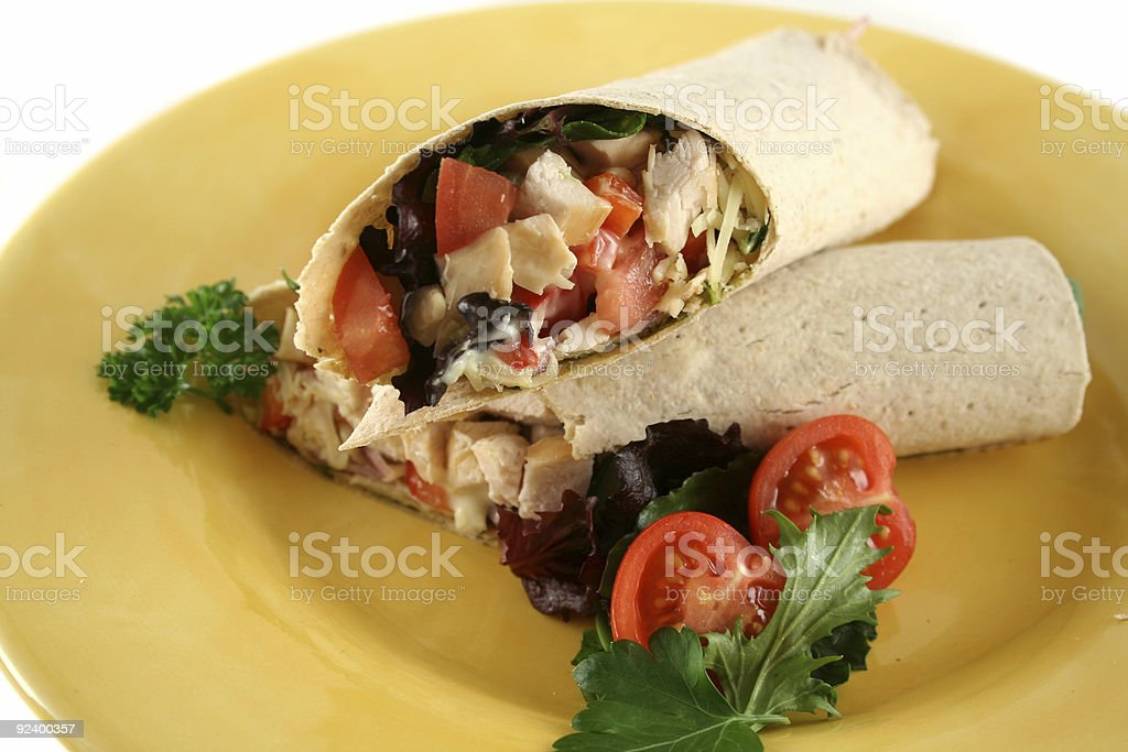 Chicken Salad Wrap 1 royalty-free stock photo