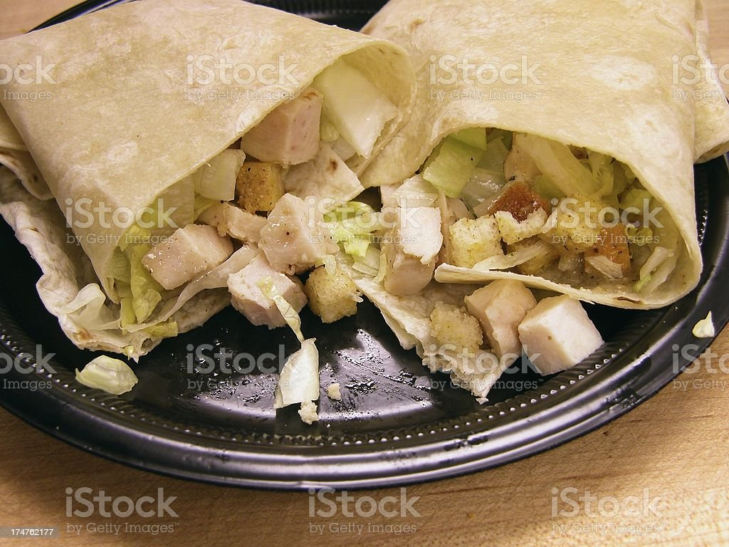 Chicken Salad Wrap royalty-free stock photo
