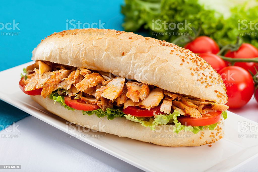 Chicken Sandwich Donner stock photo