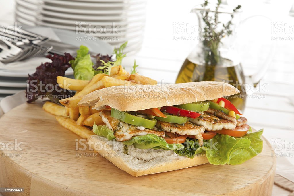 Chicken Sandwich royalty-free stock photo