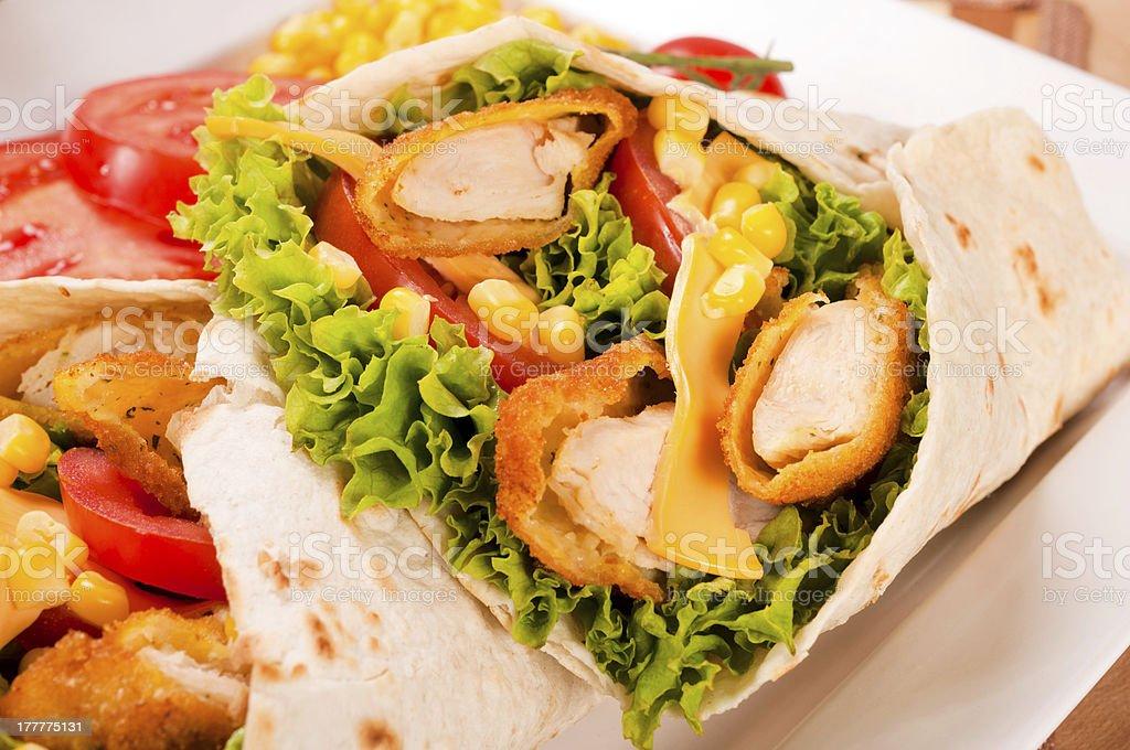 Chicken sandwich royalty-free stock photo
