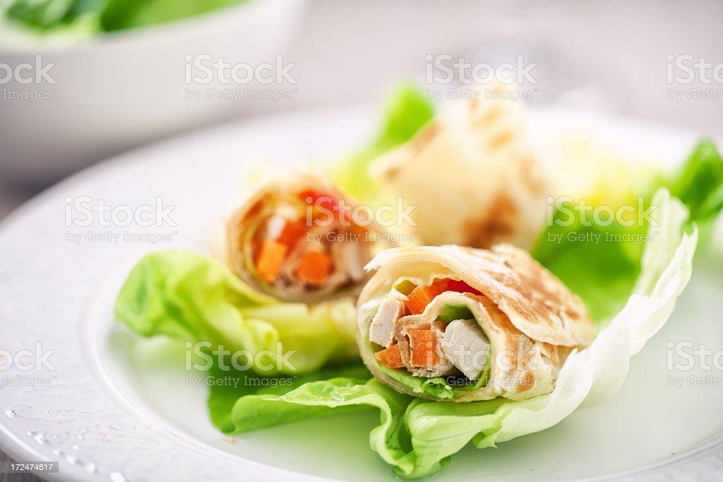 Chicken Sandwich Wrap royalty-free stock photo