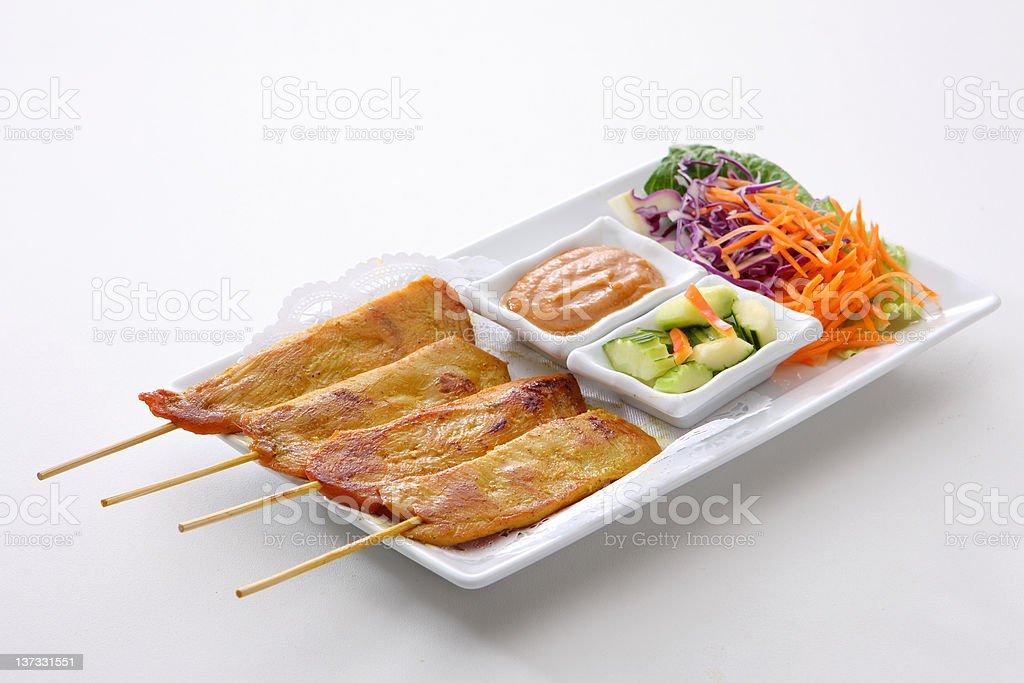 Chicken Satay stock photo