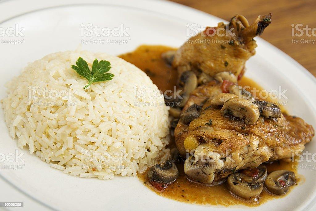 Chicken Saute Chasseur stock photo