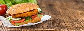 Chicken Schnitzel on a bun