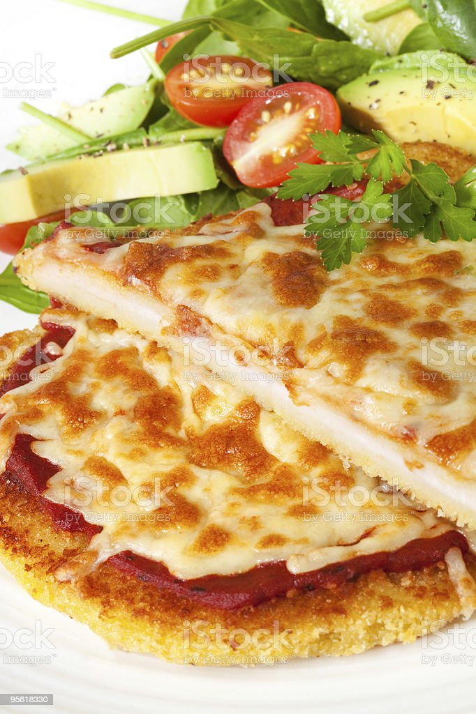 Chicken Schnitzel stock photo