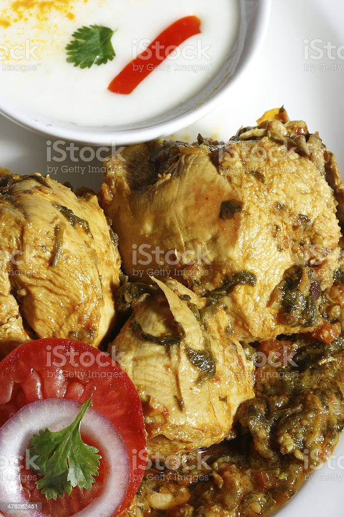 Chicken Seyal stock photo