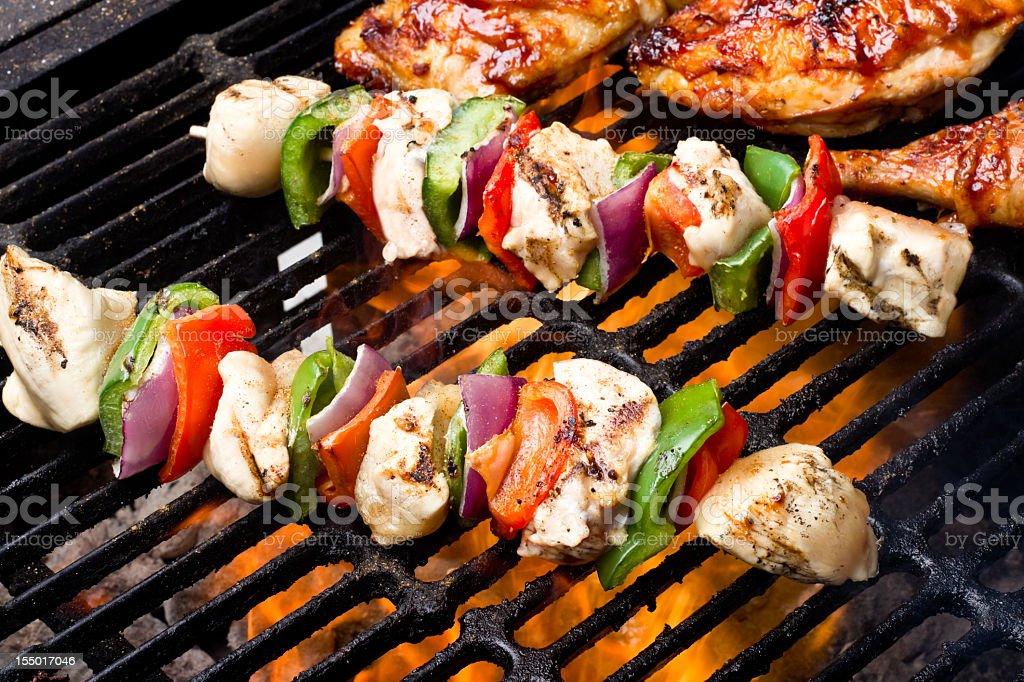 Chicken Shish Kebabs stock photo